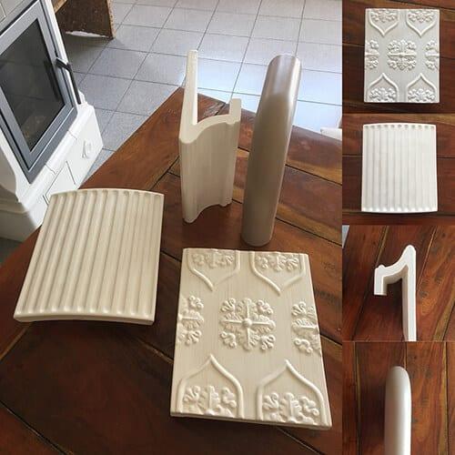 Nuove maioliche Cerampiù. Stufe maiolica di Arte Calore Verona
